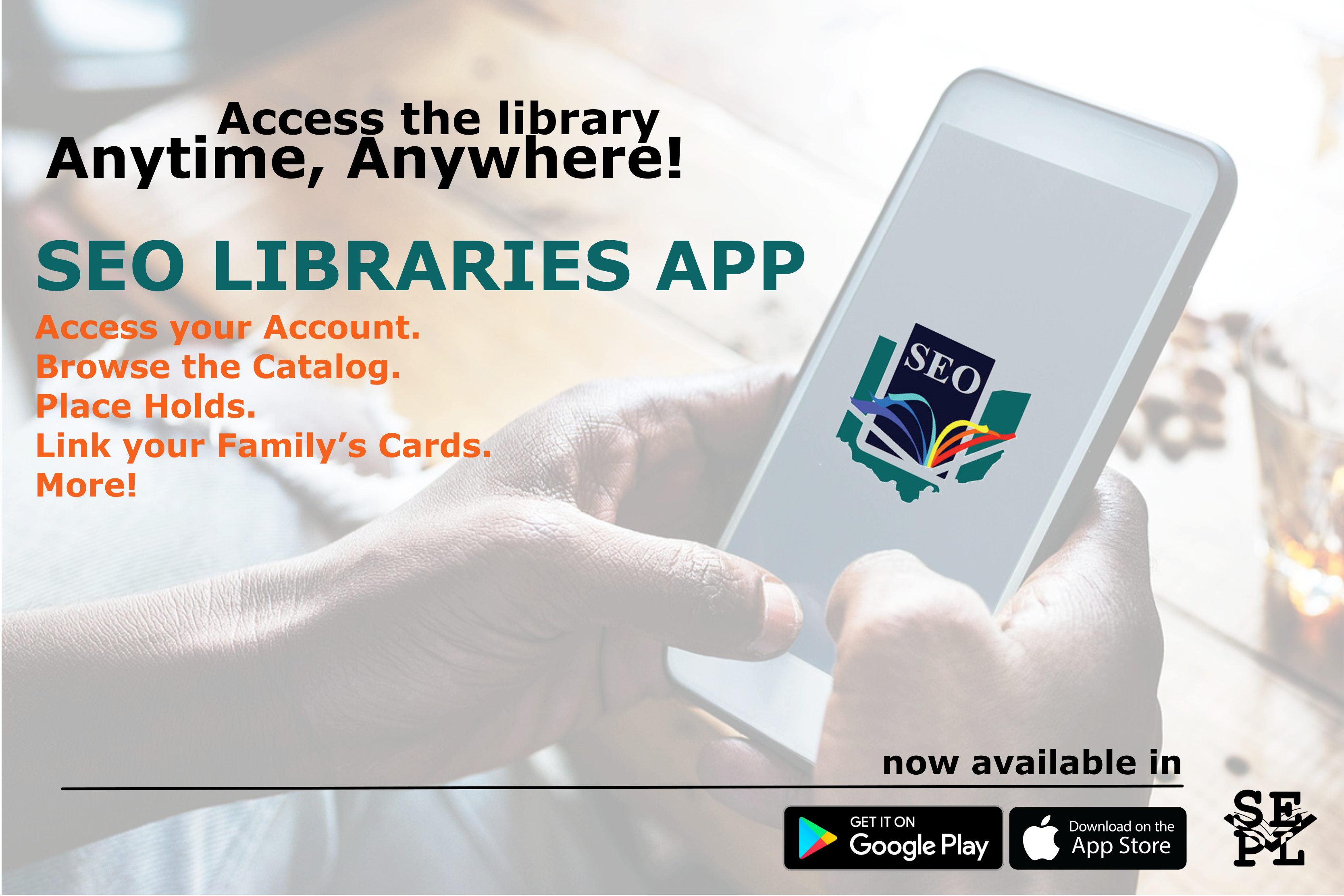 SEO Libraries App Now Available | Seneca East Public Library
